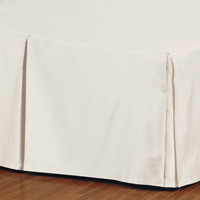 Fresco Classic Ecru Pleated Bed Skirt
