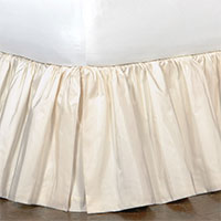 Freda Ruffled Bed Skirt in Ivory