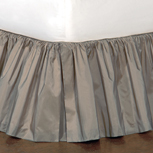 Freda Ruffled Bed Skirt in Steel