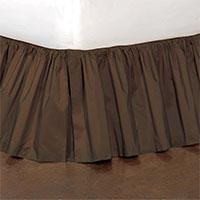 Freda Ruffled Bed Skirt in Chocolate