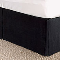 Resort Black Bed Skirt