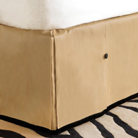 Roxanne Metallic Bed Skirt