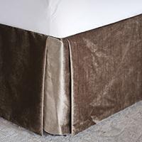 Silvio Velvet Bed Skirt