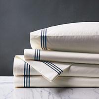 Tessa Ivory/Navy Sheet Set