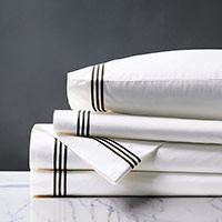 Tessa White/Black Sheet Set