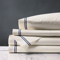 Enzo Ivory/Navy Sheet Set