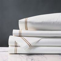 Enzo White/Antique Sheet Set