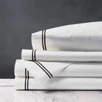 Enzo White/Black Sheet Set
