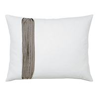 Breeze White Standard Sham Left