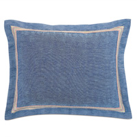 Paloma Woven Standard Sham In Blue
