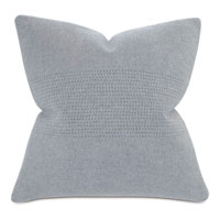 Brera Horizontal Tailor Tacks Decorative Pillow In Gray