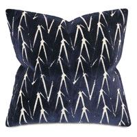 Phase Velvet Decorative Pillow In Blue