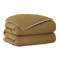 Trillium Solid Duvet Cover in Gold