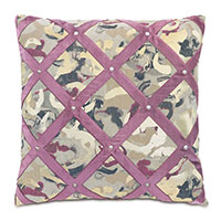 Valentina Velvet Lattice Decorative Pillow