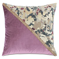 Valentina Color Block Decorative Pillow (Left)