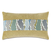 Zephyr Embroidered Insert Decorative Pillow