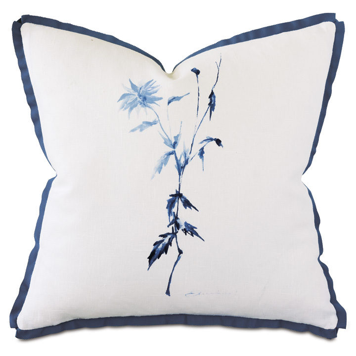 Capri Handpainted Decorative Pillow