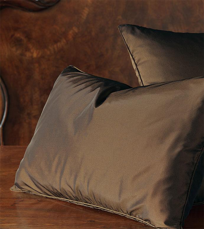 Freda Solid Taffeta - brown,earth,taffeta,shiny,ruffled,bed skirt,pillow,euro sham,standard sham,decorative pillow,accent pillow,throw pillow,king sham,silky,solid,traditional,home decor,made in usa