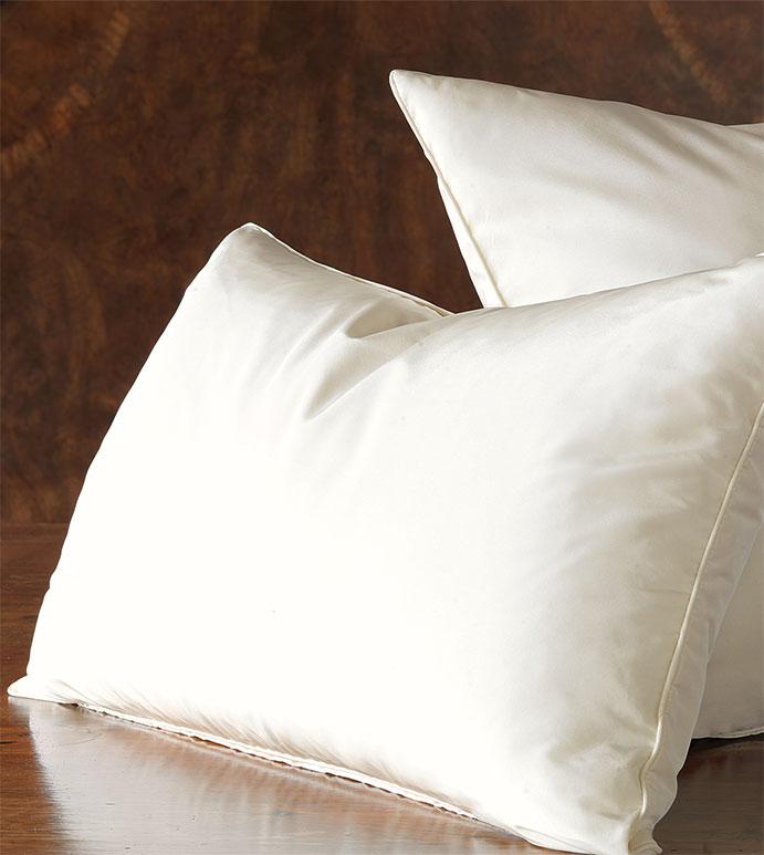 Freda Solid Taffeta - ivory,white,taffeta,shiny,silky,bed skirt,ruffled,euro sham,standard sham,king sham,accent pillow,decorative pillow,pillow,bedding,bed pillow,square,bed skirt,made in usa,