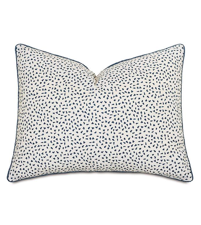 Claire Speckled Standard Sham - ,standard sham pillow,100% cotton standard sham,white standard sham,navy standard  sham,speckled print,navy bedding,cotton bedding,luxury standard sham,alexa hampton,