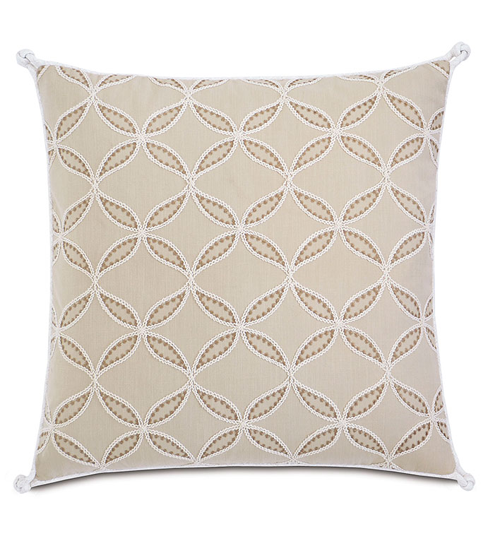 Hadon Natural With Turkish Knots - PILLOW,TOSS CUSHION,THROW PILLOW,SQUARE PILLOW,TRADITIONAL PILLOW,CUSTOMIZABLE PILLOW,DOUBLE SIDED PILLOW,WHIMSICAL PILLOW,ZIPPER CLOSURE PILLOW,TURKISH KNOT PILLOW,HIGH END PILLOW