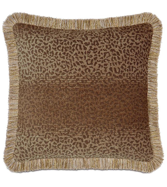 Congo Gold & Brown Pillow A - ,