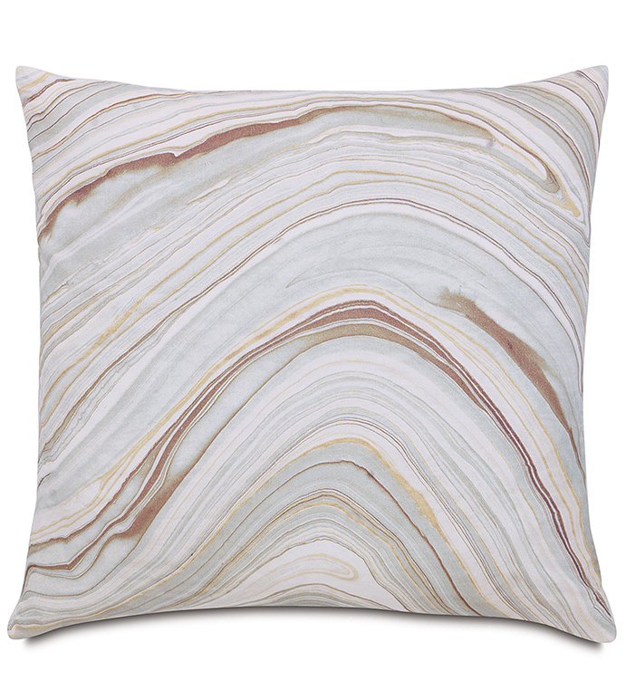 Blake Mineral Knife Edge - DECORATIVE PILLOW,SHAM,RECTANGLE,AGATE CRYSTAL PRINT,FACE DESIGN,PATTERNED,GREY,WHITE,BLUE,LAVENDER,YELLOW,METALLIC,KNIFE EDGE,MARBLE DESIGN,BEDDING,HOME DÉCOR,CONTEMPORARY,SILVER