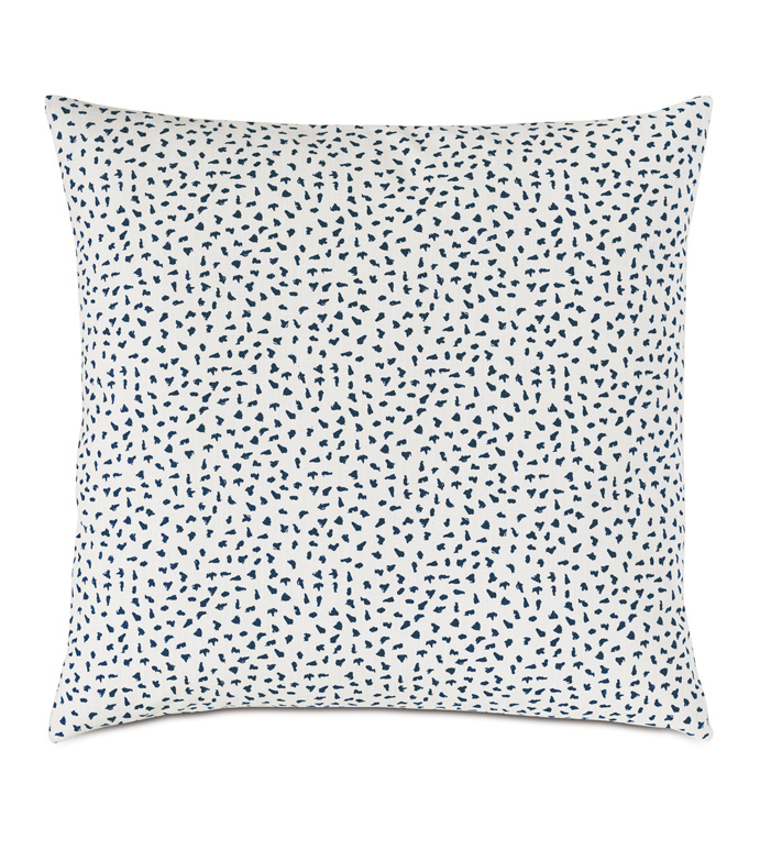 Hugo Speckled Decorative Pillow - SPECKLED,POLKA-DOTTED,BLUE AND WHITE,BLUE,DECORATIVE PILLOW,THROW PILLOW,ACCENT PILLOW,LUXURY BEDDING,BEDDING,LUXURY