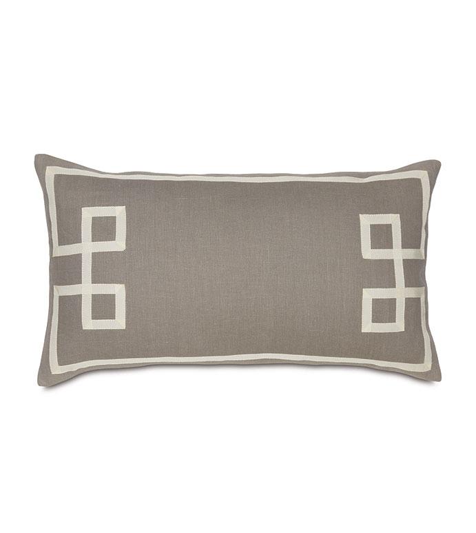 Resort Stone Fret Accent Pillow - ,