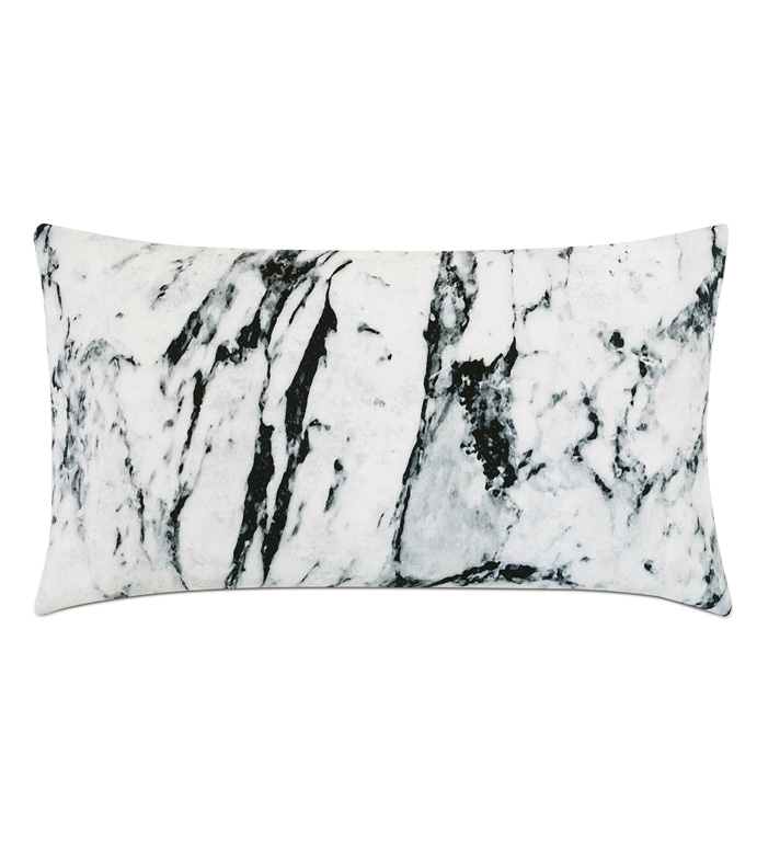 Banks Marble Decorative Pillow - THROW PILLOW,ACCENT PILLOW,EASTERN ACCENTS,MONOCHROME,CONTEMPORARY,100% COTTON,MARBLE,KNIFE EDGE,MODERN,LUXURY BEDDING,LUXURY PILLOW,MARBLE PATTERN,MARBLE PILLOW,DOUBLE SIDED,