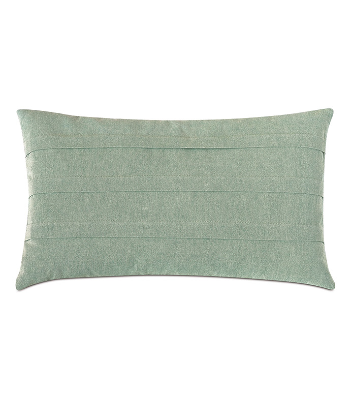 Evangeline Pleated Accent Pillow In Teal - TEAL ACCENT PILLOW FEATURING A SOLID DESIGN AND CONTEMPORARY AESTHETIC,