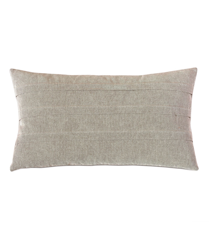 Evangeline Pleated Accent Pillow In Taupe - ACCENT PILLOW,THROW PILLOW,ACCENT PILLOW,NICHE BY EASTERN ACCENTS,TAUPE,CONTEMPORARY,100% COTTON,SOLID,PLEATED,