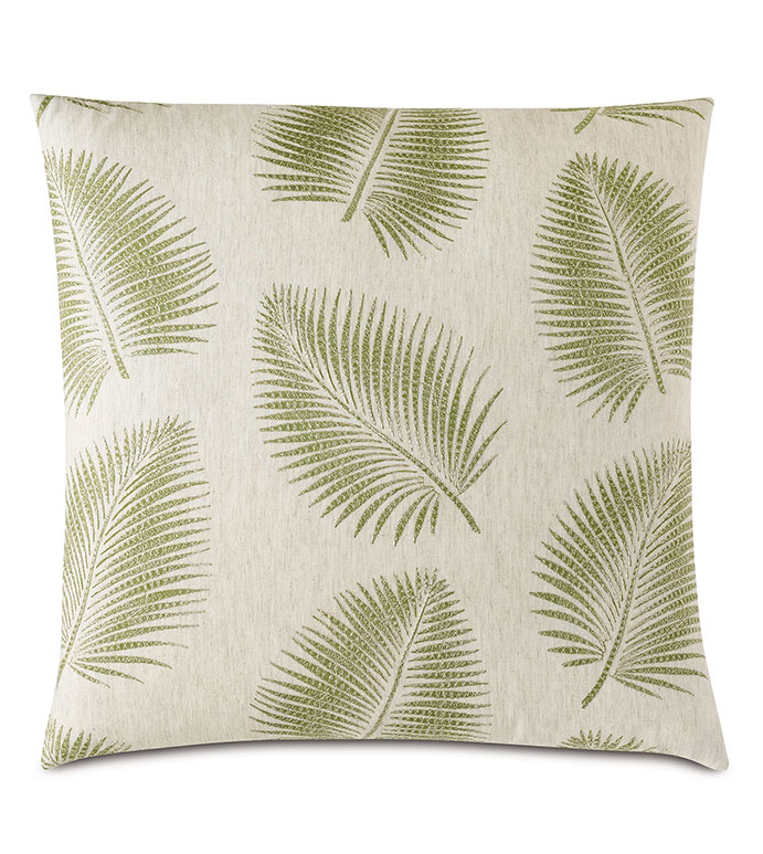 Areca Palm Leaf Decorative Pillow