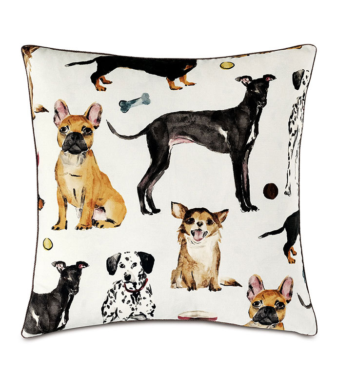 Tompkins Novelty Dogs Decorative Pillow - FRENCHIE, DALMATIAN, GREYHOUND, CHIHUAHUA, DACHSHUND