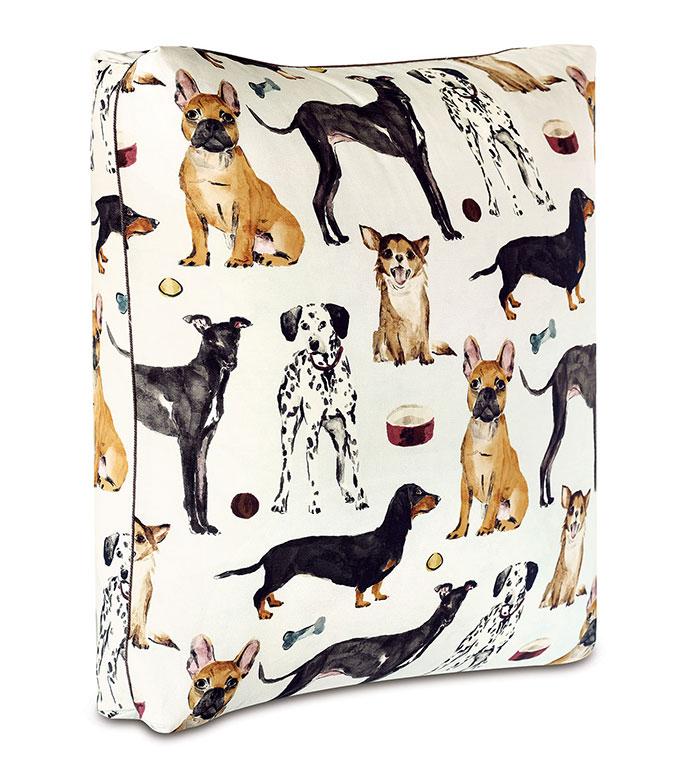 Tompkins Novelty Dogs Floor Pillow - FRENCHIE, DALMATIAN, GREYHOUND, DACHSHUND