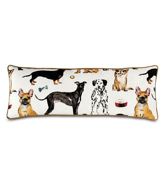 Tompkins Novelty Dogs Decorative Pillow - FRENCHIE, DALMATIAN, GREYHOUND, DACHSHUND