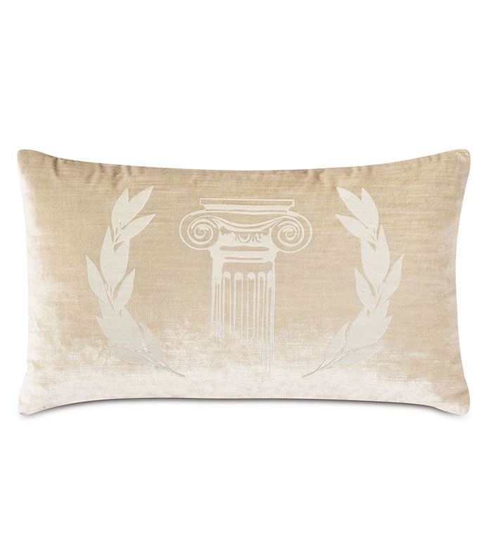 Antiquity Greece Decorative Pillow - ,DECORATIVE PILLOW,VELVET PILLOW,VELVET,LUXURY VELVET,ANCIENT GREECE,ANTIQUITY,CLASSIC DECOR,LUXURY DECOR,WHITE PILLOW,CREAM VELVET,PILLOW,LASER ENGRAVED,