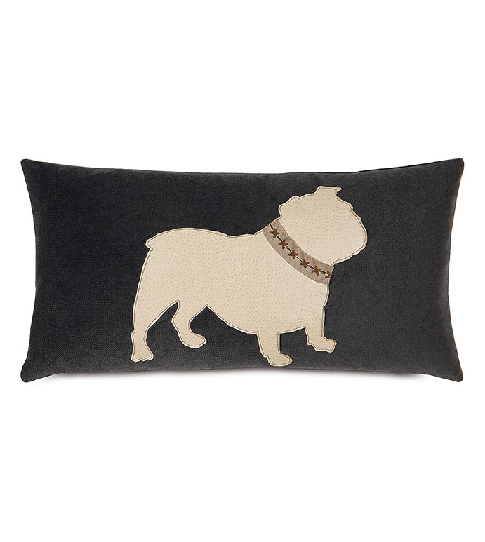 Bulldog With Collar - , ENGLISH BULLDOG PILLOW, ENGLISH BULLDOG