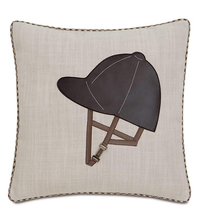 Equestrian Helmet Decorative Pillow - ,EQUESTRIAN DECORATIVE PILLOW,EQUESTRIAN DECOR,LINEN PILLOW,JOCKEY PILLOW,EQUESTRIAN STYLE,HORSE RACE DECOR,JOCKEY HAT,JOCKEY PILLOW,HORSE PILLOW,HORSE RIDING DECOR,