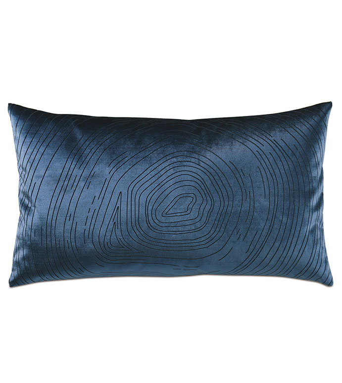 Geode Lasercut Decorative Pillow in Midnight - ,15X26 PILLOW,BLUE PILLOW,BLUE VELVET,VELVET PILLOW,GEODE,LASERCUT PILLOW,LASERCUT DESIGN,LUXURY PILLOW,VELVET BOLSTER,VELVET DECOR,VELVET THROW PILLOW,LUXURY VELVET,BLUE DECOR,
