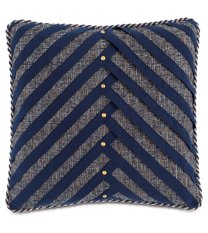 Rosenthal Dusk With Ribbons - BLUE STRIPED PILLOW,BLUE CHEVRON PILLOW,MENS ROOM PILLOW,TRADITIONAL,CLASSIC,MASCULINE,NAILHEAD PILLOW,BUSHED GOLD,BLUE AND GREY,NAVY AND GREY,NAVY STRIPED,OXFORD STYLE PILLOW,GRAY