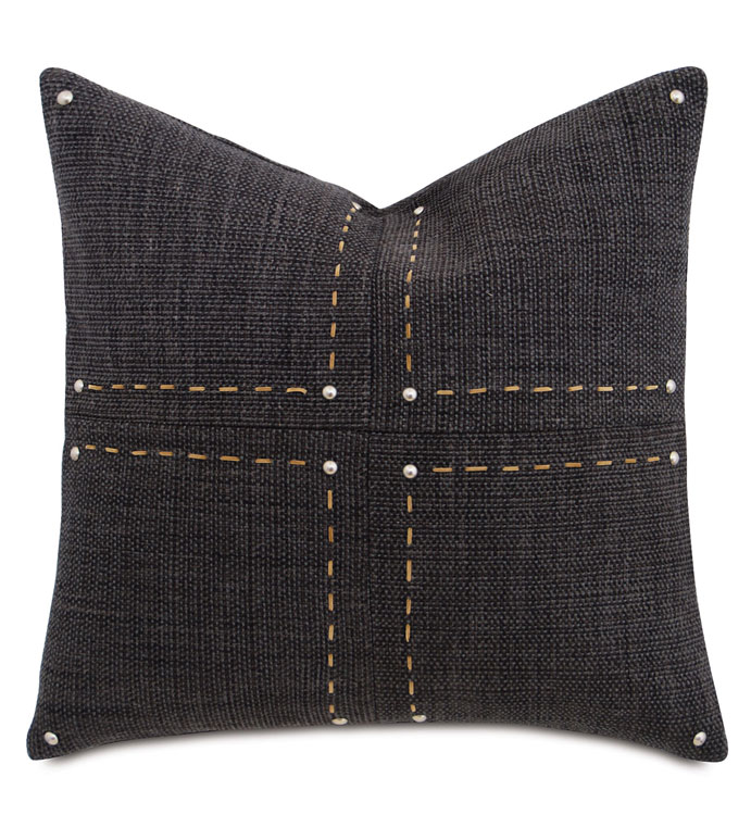 Gilmer Charcoal With Hand Stitch - ,