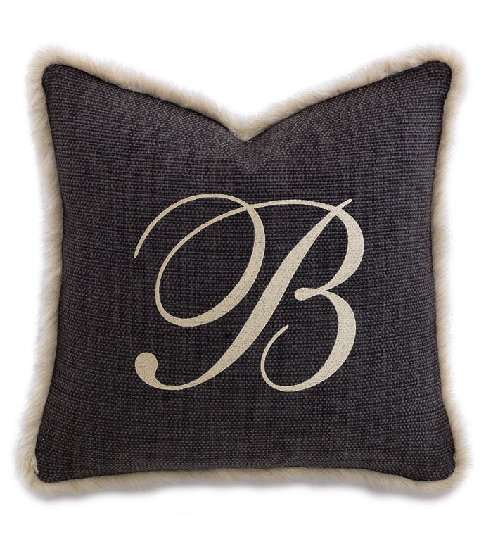 Gilmer Charcoal With Monogram - ,