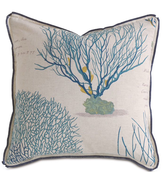 Astern Aqua Dec Pillow - ,
