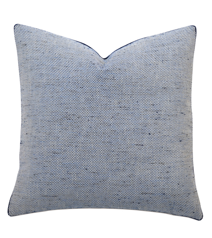 Newport Accent Pillow In Blue - ACCENT PILLOW,THROW PILLOW,ACCENT PILLOW,BARCLAY BUTERA BY EASTERN ACCENTS,BLUE,COASTAL,WOVEN,GEOMETRIC,CORD,