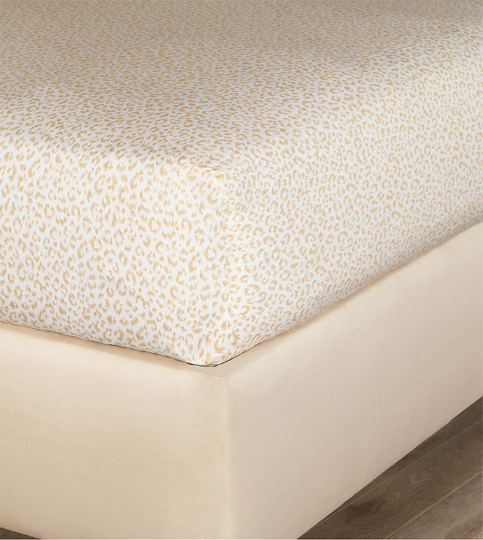 Tanner Sand Fitted Sheet - HAMPTON