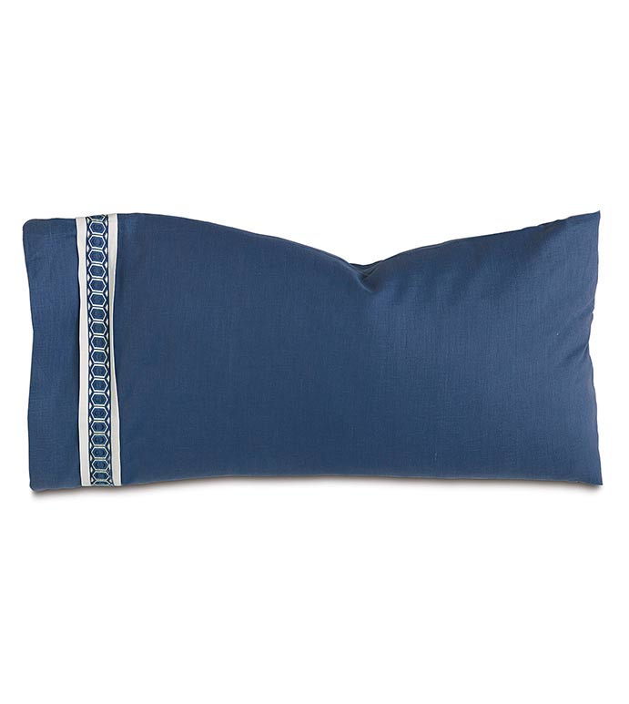 Indigo King Sham (Left) - ,