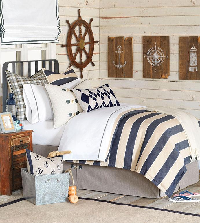 Ryder Bedset - bedding,top of bed,luxury linens,nautical bedding,bedset,custom bedding,duvet set,coastal bedding,bedding,high end bedding,luxury bedding,Eastern Accents bedding,marine bedding