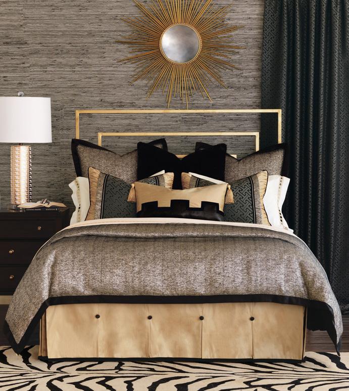 Roxanne Bedset - bedding,top of bed,luxury linens,glam bedding,bedset,custom bedding,duvet set,elegant bedding,glitz bedding,opulent bedding,high end bedding,luxury bedding,Eastern Accents bedding