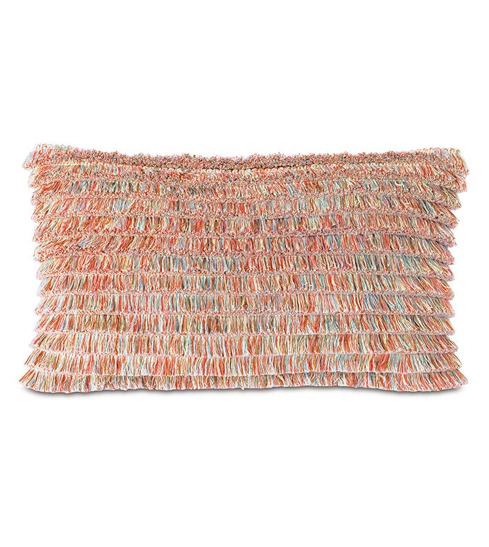 Bimini Brush Fringe Decorative Pillow